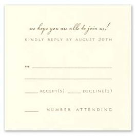 William Arthur Weddings Volume 2 - 2009 90637 90497 Response Card