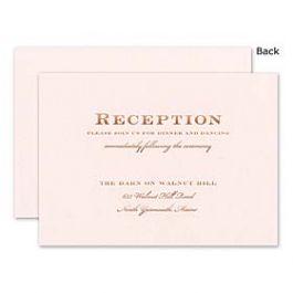 William Arthur Weddings Volume 3 2014 119309 118830 Reception Card