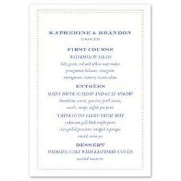 William Arthur Weddings Volume I 2016 127304 127264 Menu Card