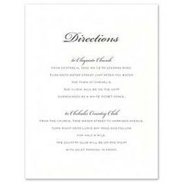William Arthur Weddings Volume I 2016 127494 127481 Directions Card