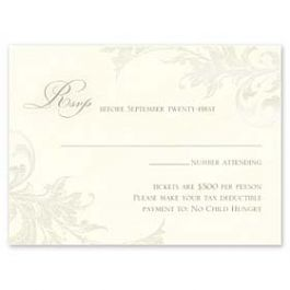 William Arthur Social Stationery & Occasions 2016 128711 128690 Response Card