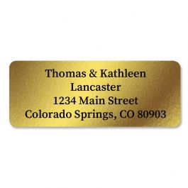 Gold Foil Custom Address Labels