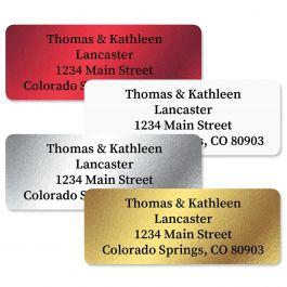 Foil Assortment Custom Address Labels  (4 Colors)