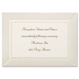 Carlson Craft Themes & Dreams 129132 129115 Reception Card