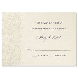 Carlson Craft Themes & Dreams 129131 129115 Response Card