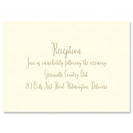 Matching Reception Card