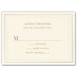 Matching Response Card