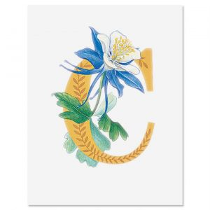 Floral Initial Note Cards