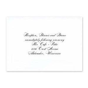 Carlson Craft Wedding 2015 123654 123598 Reception Card