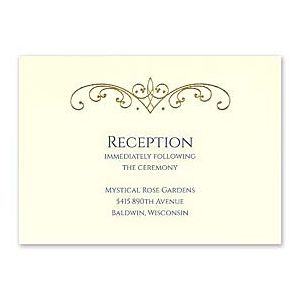 Carlson Craft Candlelight Beginnings 128968 128960 Reception Card