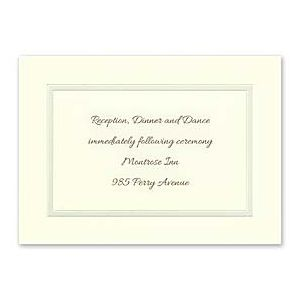 Carlson Craft Candlelight Beginnings 129078 128961 Reception Card