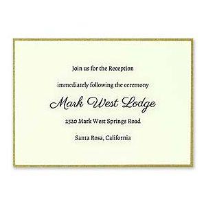 Carlson Craft Simple but Elegant 129021 128987 Reception Card