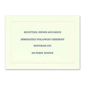Carlson Craft Simple but Elegant 129024 128988 Reception Card