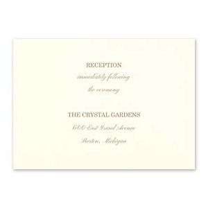 Carlson Craft Simple but Elegant 129027 128989 Reception Card