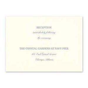 Carlson Craft Simple but Elegant 129030 128990 Reception Card