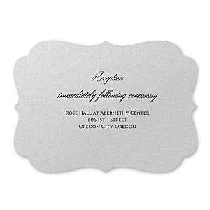 Carlson Craft Simple but Elegant 129033 128991 Reception Card