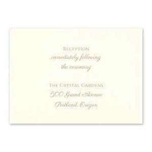 Carlson Craft Simple but Elegant 129035 128992 Reception Card