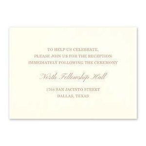 Carlson Craft Simple but Elegant 129038 128993 Reception Card