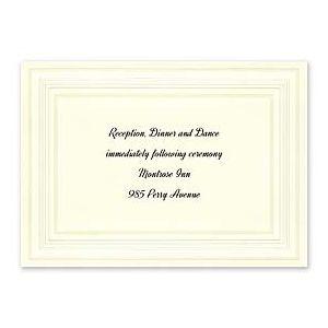 Carlson Craft Simple but Elegant 129047 128996 Reception Card