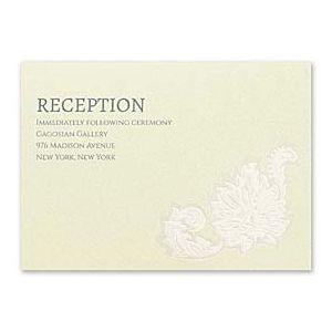 Carlson Craft Themes & Dreams 129126 129113 Reception Card