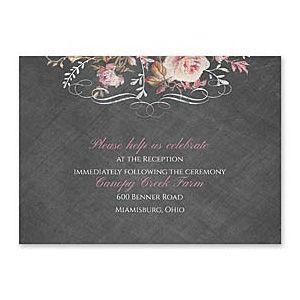 Carlson Craft Themes & Dreams 129141 129118 Reception Card