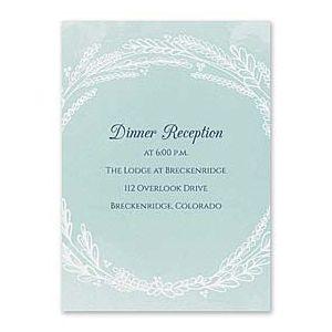 Carlson Craft Themes & Dreams 129150 129121 Reception Card