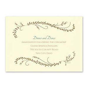 Carlson Craft Themes & Dreams 129153 129122 Reception Card