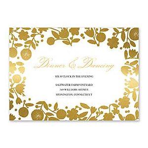 Bonnie Marcus Wedding 127402 127370 Reception Card