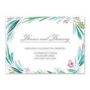 Bonnie Marcus Wedding 127414 127379 Reception Card