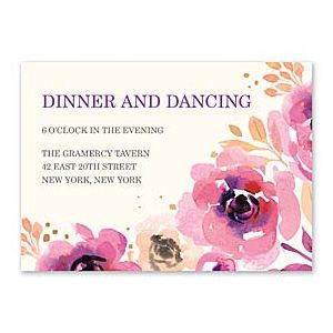 Bonnie Marcus Wedding 128850 128824 Reception Card