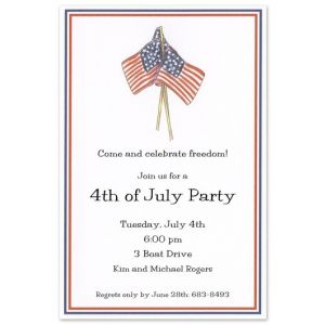 July Flags Invitation
