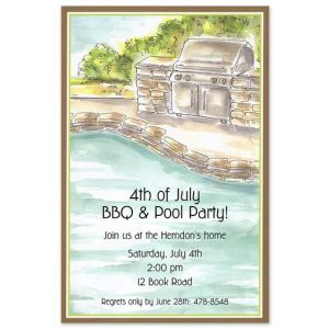 Poolside Grill Invitation
