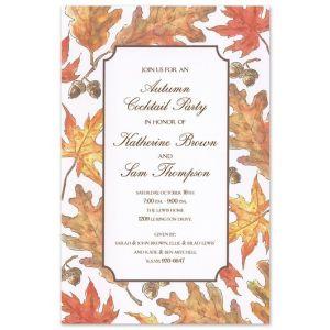 Crisp Leaves Invitation