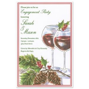 Holly Toast Invitation