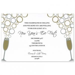 Flashy Toast Invitation