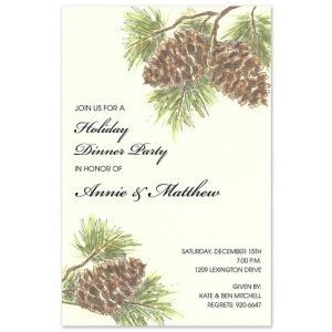 Woodland Pine Invitation