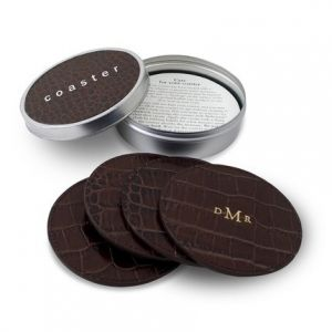 Brown Crocodile Coasters