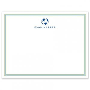 navy line flat card - Personalized Flat Note Cards