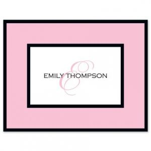 Pink Frame Note Card