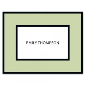 Sage Frame Note Card