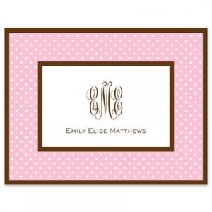 Pink Dot Note Card