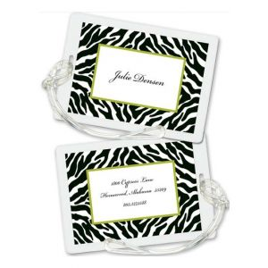 Black Zebra Luggage Tag
