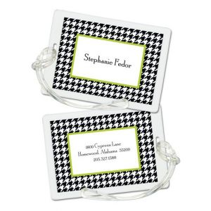 Green Houndstooth Tag