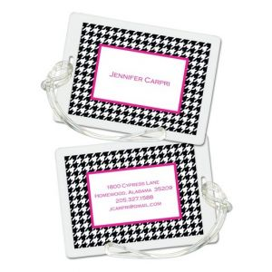 Pink  Houndstooth Tag
