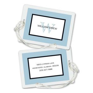 Blue Frame Luggage Tag