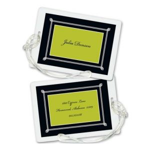 Black Frame Luggage Tag