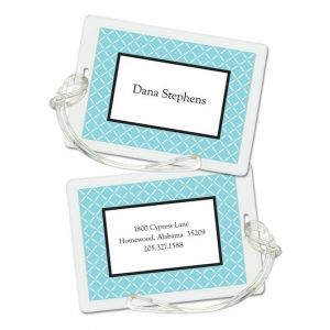 Aqua Trellis Luggage Tag