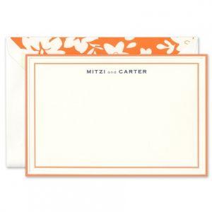 Orange Border Flat Card
