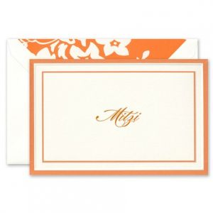 Orange Border Note Card