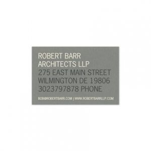 Gray Business Card